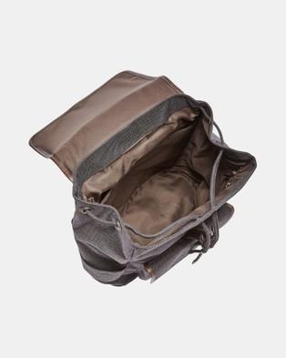 Fossil Buckner Black Rucksack - Backpacks (Black)