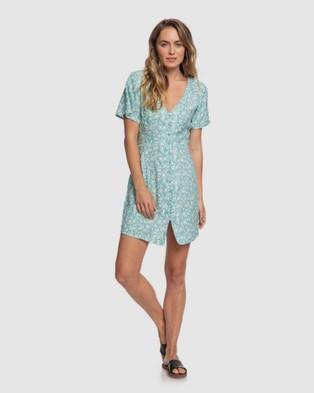 Roxy Womens Damage Love Short Sleeve Buttoned Dress - Dresses (CANTON BLAIZE)