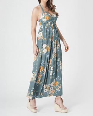 Amelius Delilah Floral Maxi Dress - Printed Dresses (Sage)