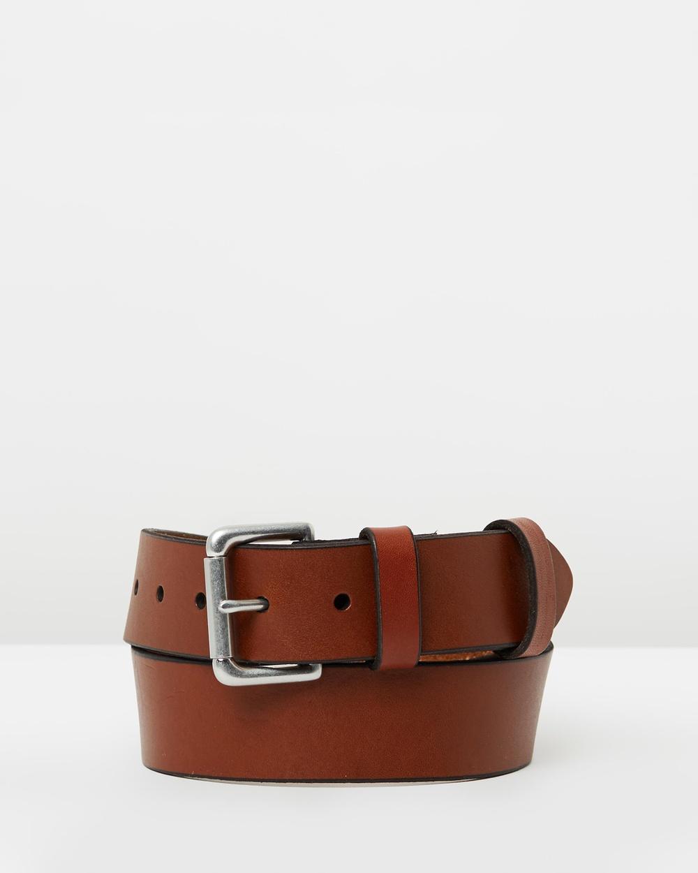 """Polo Ralph Lauren 1 2"""" Roller Buckle Belt Belts Tan 1-2"""""""
