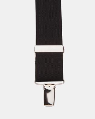 Buckle Plain 35mm Y Back Braces - Suspenders (Black)