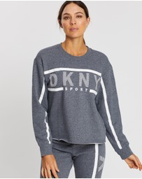 DKNY - Exploded Stripe Logo Pullover