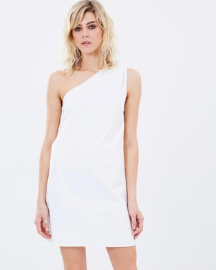 Atmos & Here – Garland One Shoulder Mini Dress – Dresses (White)