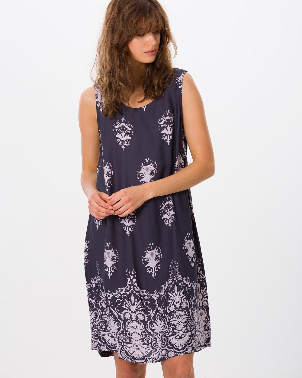 Kaja Clothing Petra Dress Dresses Grey Floral Petra Dress