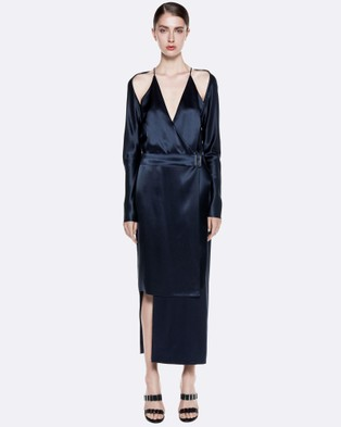 Dion Lee – Contour Tie Dress – Dresses (Navy)