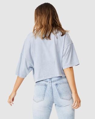 Cotton On Chopped Boyfriend Tee - T-Shirts & Singlets (Free Rider Vintage Blue)