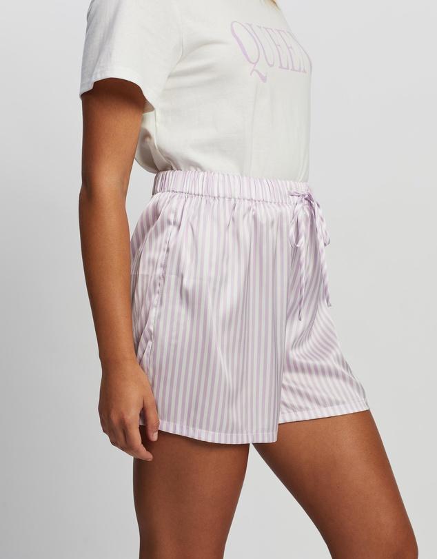 Women Stripe Sleep Shorts