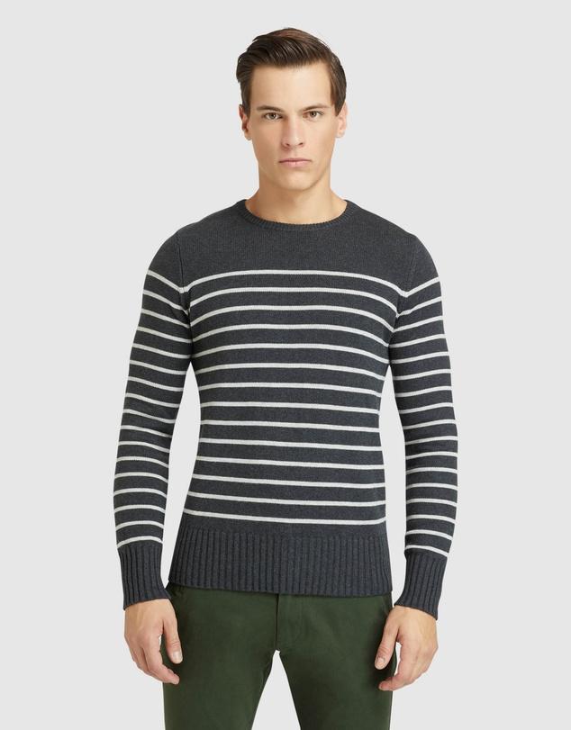 Men Carlo Striped Knit