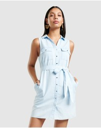 Forever New - Ada Sleeveless Denim Shirt Dress