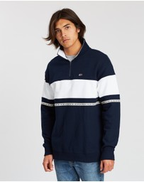 Tommy Jeans - Tape Zip Mock Neck Sweatshirt