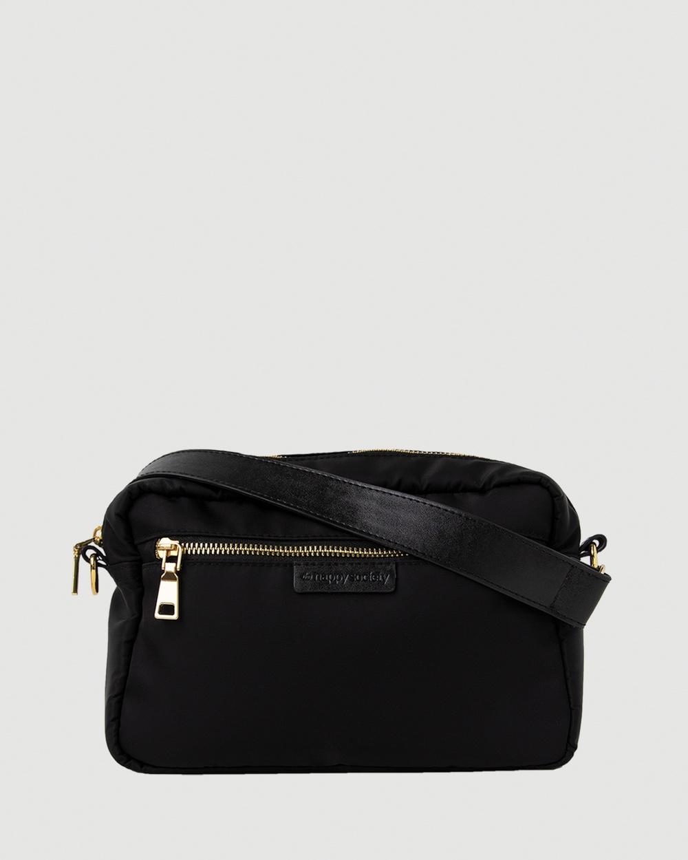 The Nappy Society Cross Body Bag Handbags Black Australia