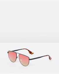 McQ by Alexander McQueen - Aviator Metal Frame Sunglasses