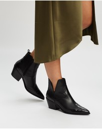 ALDO - Mersey Leather Western Style Ankle Boots