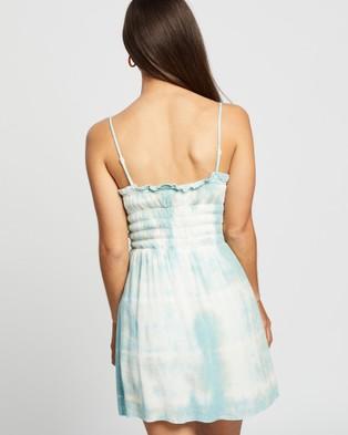 LENNI the label Crush Shirred Dress - Printed Dresses (Cloud)