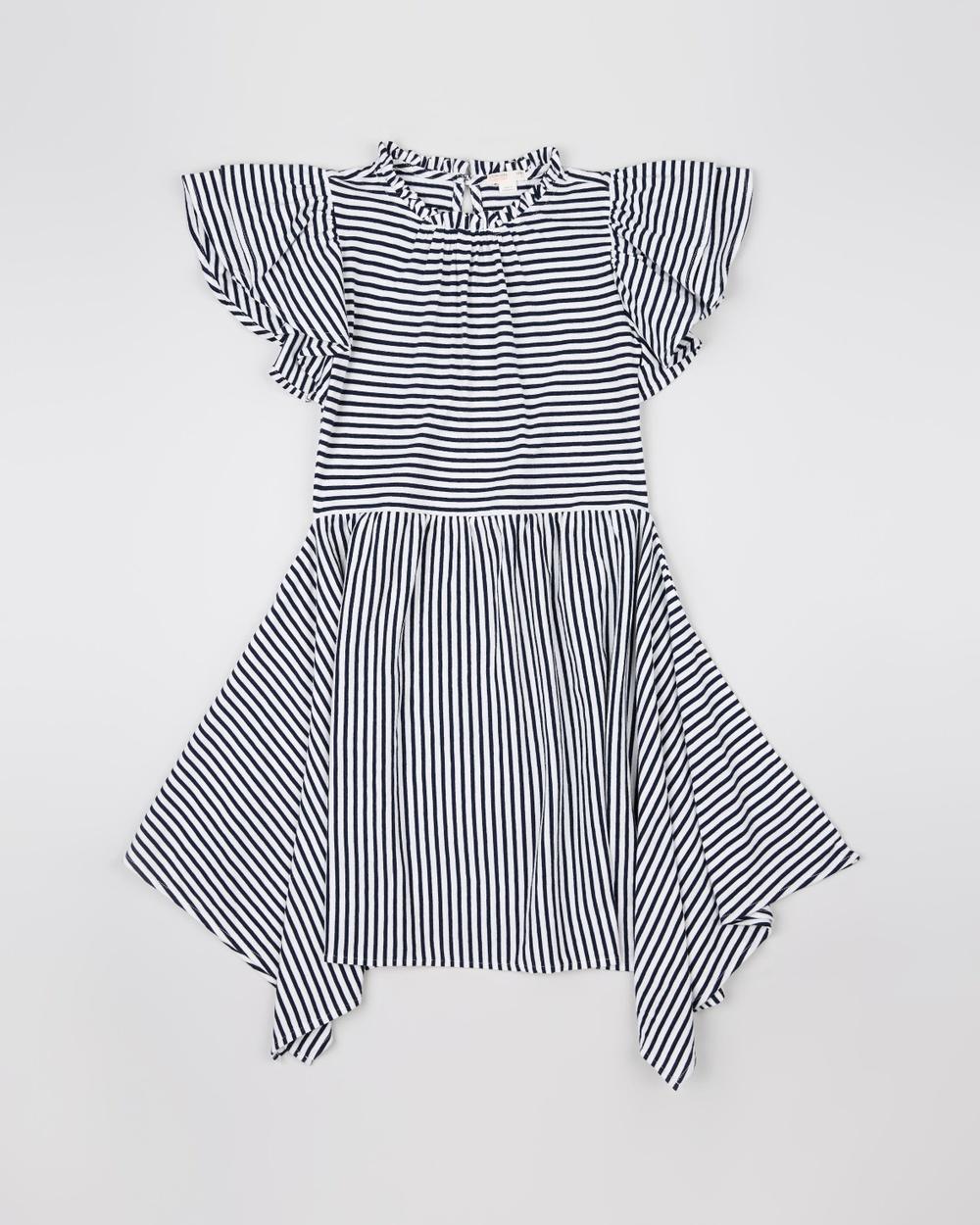 crewcuts by J Crew Navy & White Stripe Striped Scarlett Dress – Teens