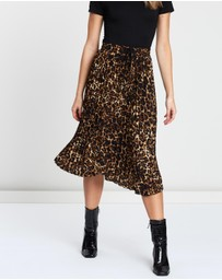Atmos&Here - Animal Pleated Midi Skirt