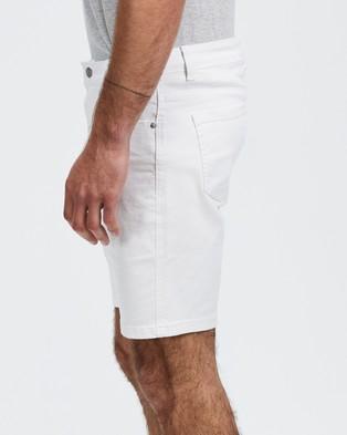 Staple Superior Staple Denim Shorts - Denim (White)