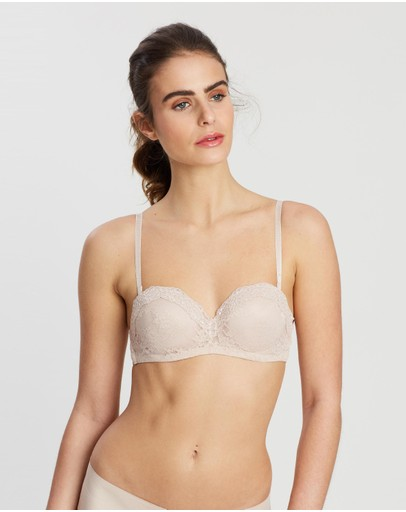 Marks & Spencer All-over Lace Bandeau Almond