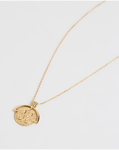 Amber Sceats Horoscope Necklace - Pisces Gold