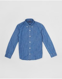 Tommy Hilfiger - Denim Long Sleeve Shirt - Teens