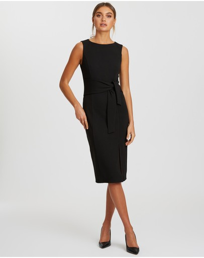Reux - Deanna Tie Waist Midi Dress