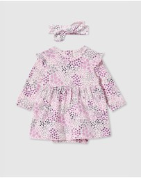 Milky - Patchwork Dress & Headband - Babies