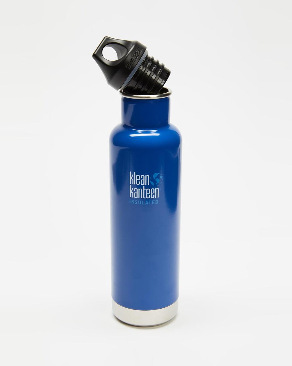 Klean Kanteen 20oz Insulated Classic Loop Bottle Running Coastal Waters