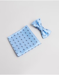Staple Superior - Pony Bow Tie & Pocket Square Pack