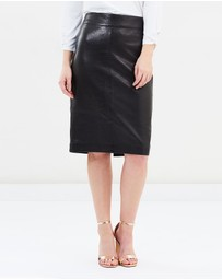 David Lawrence - Bella Leather Pencil Skirt