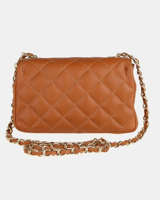 Lux Haide Sophia Cross Body Clutch Bag - Clutches (Tan)