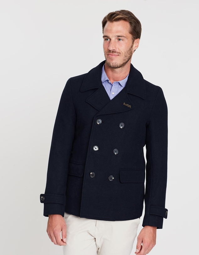 b64178582 Classic Caban Jacket With Quilted Lining