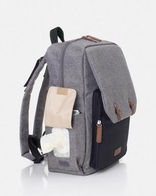 Babymel George Backpack Nappy Bag - Backpacks (Black & Grey)