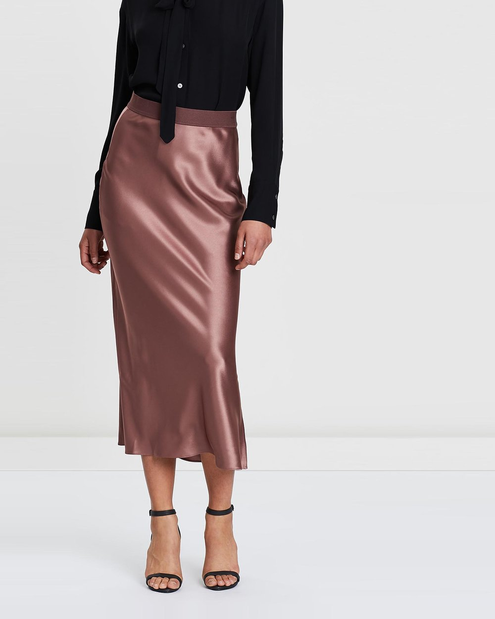 ba98ef85acaf8b Maxi Sateen Slip Skirt by Theory Online | THE ICONIC | Australia