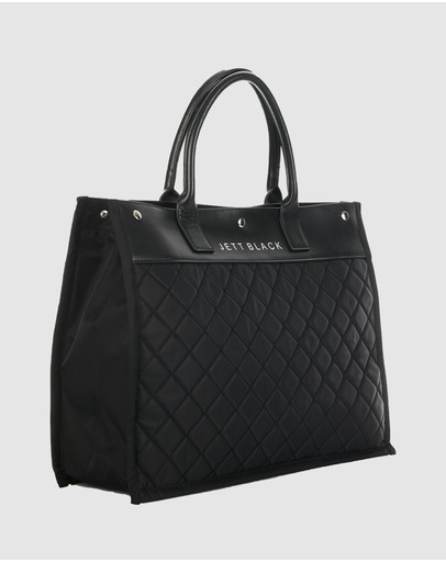 JETT BLACK - The Brooklyn Large Tote Bag