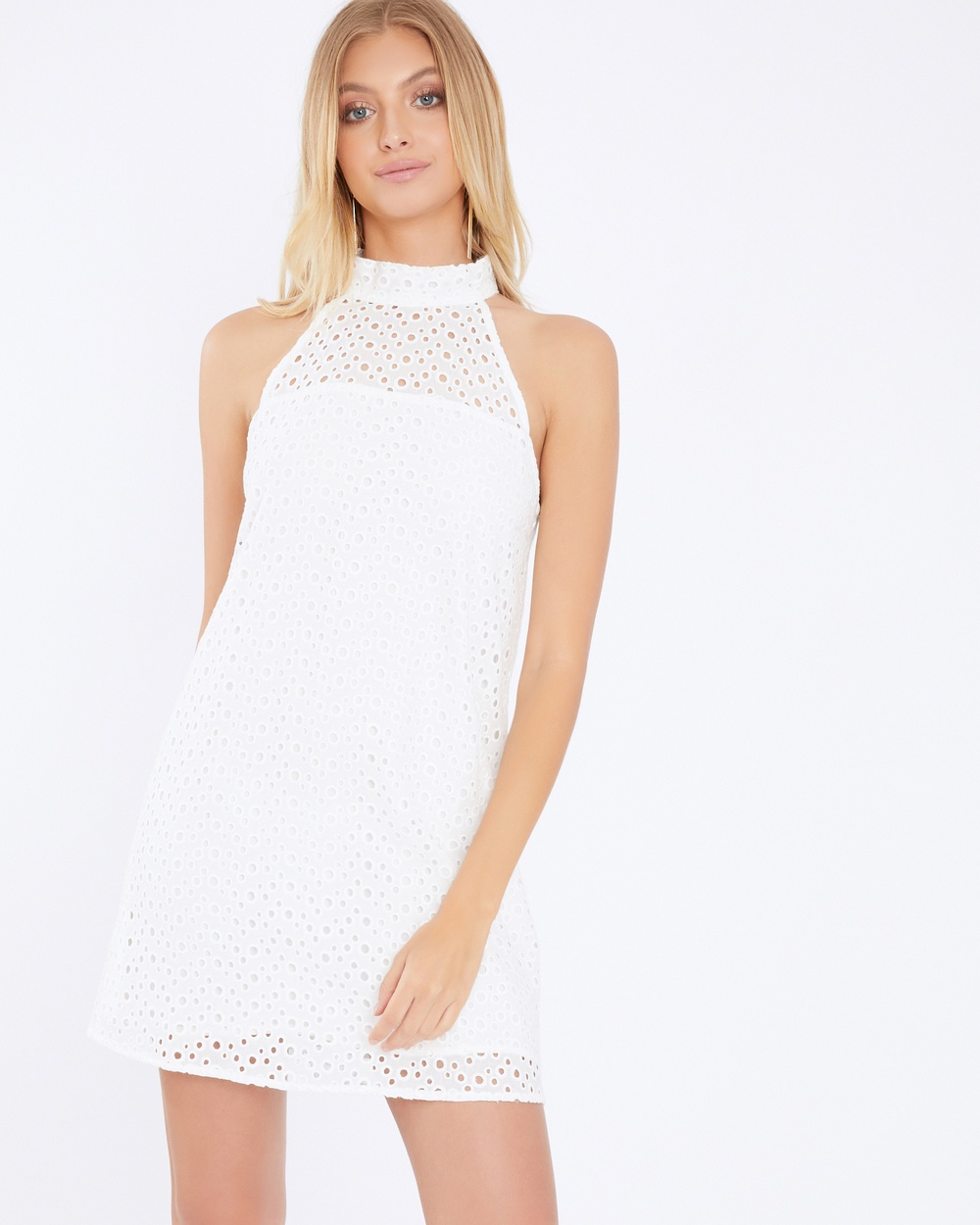 Calli Ava Halter Mini Dress Dresses White Ava Halter Mini Dress