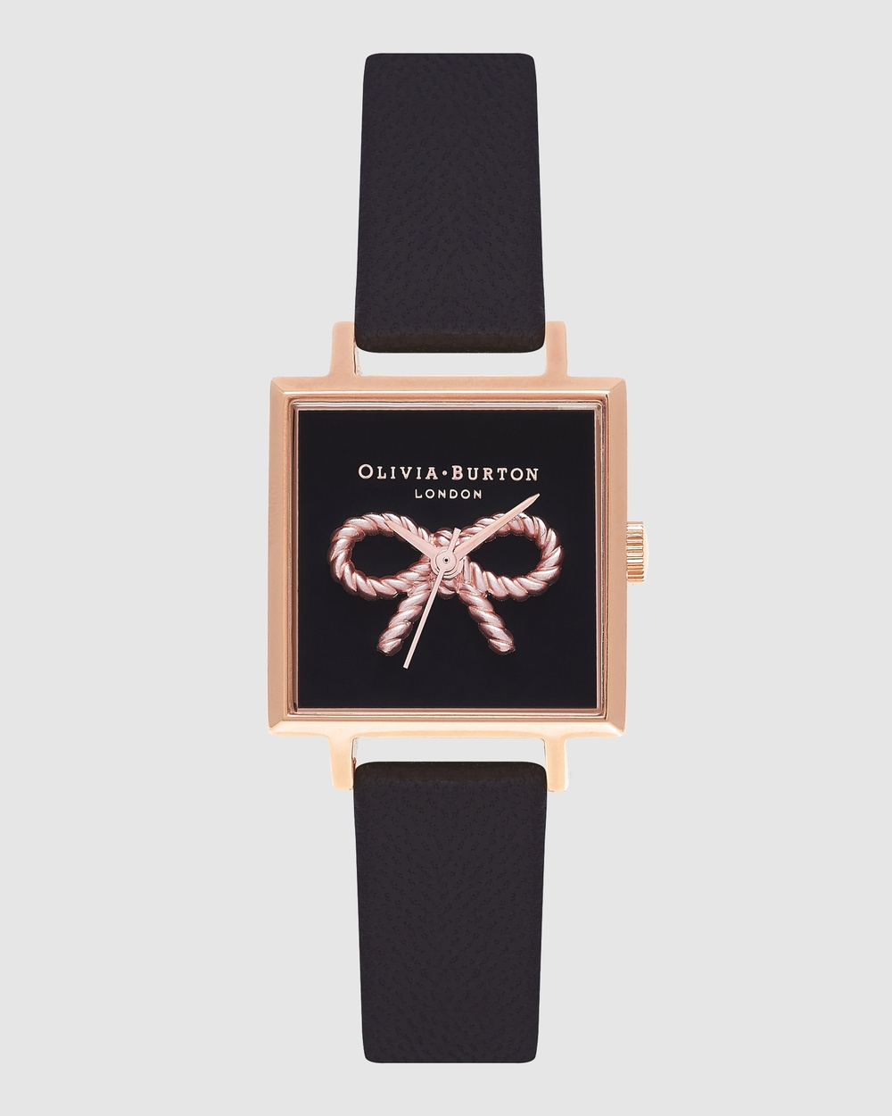 Olivia Burton Vintage Bow Watches Gold with Black Strap