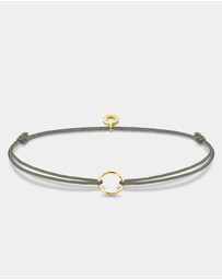 Grey Yellow Gold Plated Circle Charm Bracelet