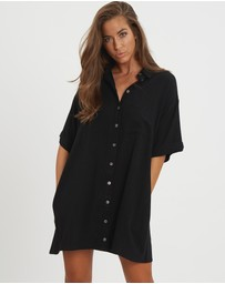 The Fated - Finesse Relaxed Shirt Dress