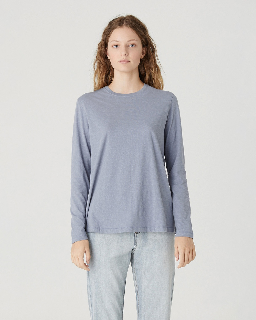 Jac & Mooki - Charlie Long Sleeve Tee - Long Sleeve T-Shirts (POWDER BLUE) Charlie Long Sleeve Tee