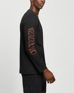 adidas Performance Cassette Tape Long Sleeve Tee - Long Sleeve T-Shirts (Black)
