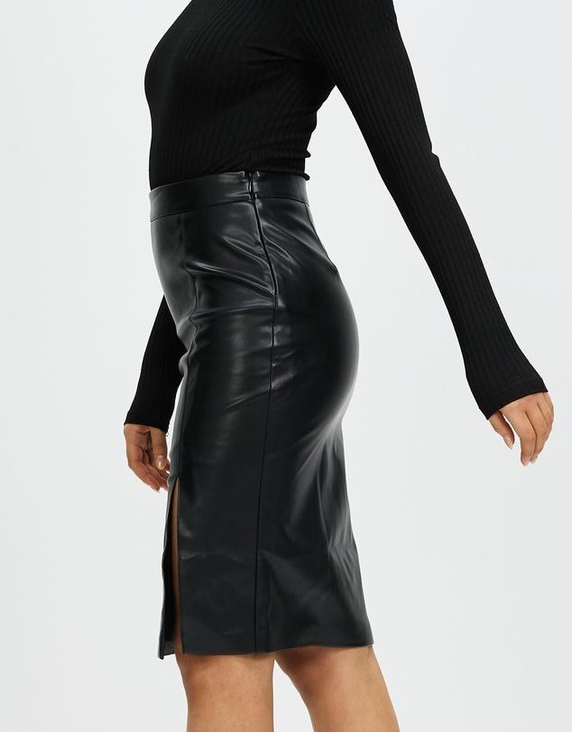 Women Imogen PU Midi Skirt