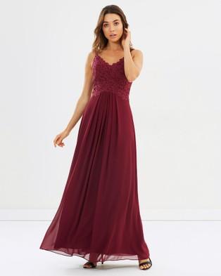 Alabaster The Label – New Romantic Dress – Bridesmaid Dresses Merlot Red