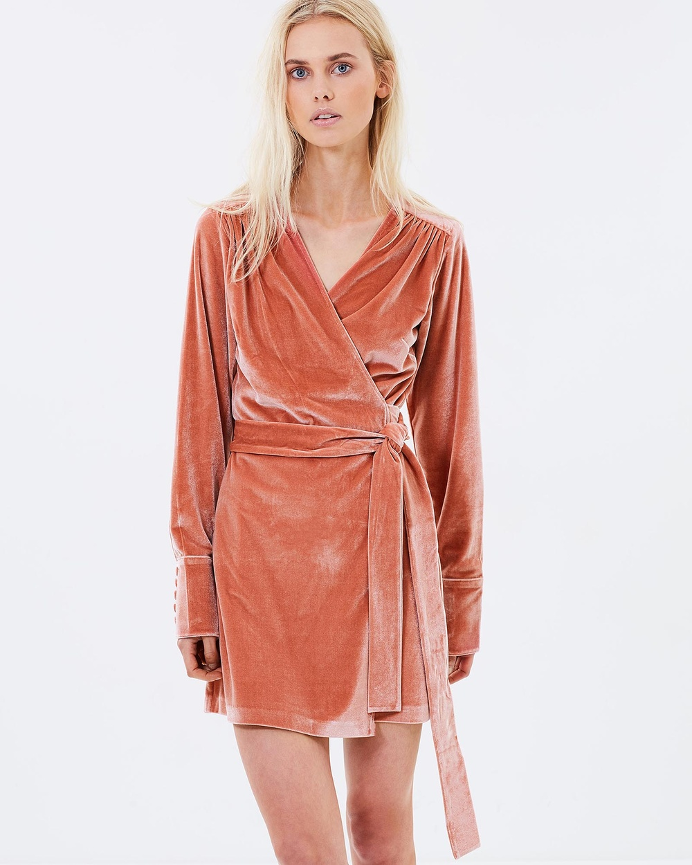Isabelle Quinn Winona Wrap Short Dress Dresses Pink Winona Wrap Short Dress