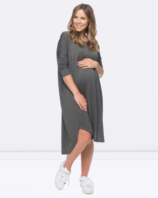 BAE the Label – Sweet Disposition Dress – Dresses (Charcoal Marle)