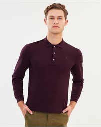Kent and Curwen - Classic LS Lightweight Polo Shirt