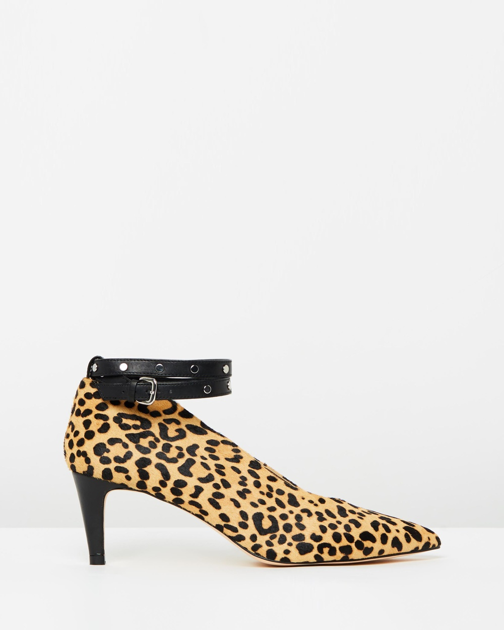 Atmos & Here ICONIC EXCLUSIVE Lucy Leather Heels All Pumps Leopard Pony Hair ICONIC EXCLUSIVE Lucy Leather Heels