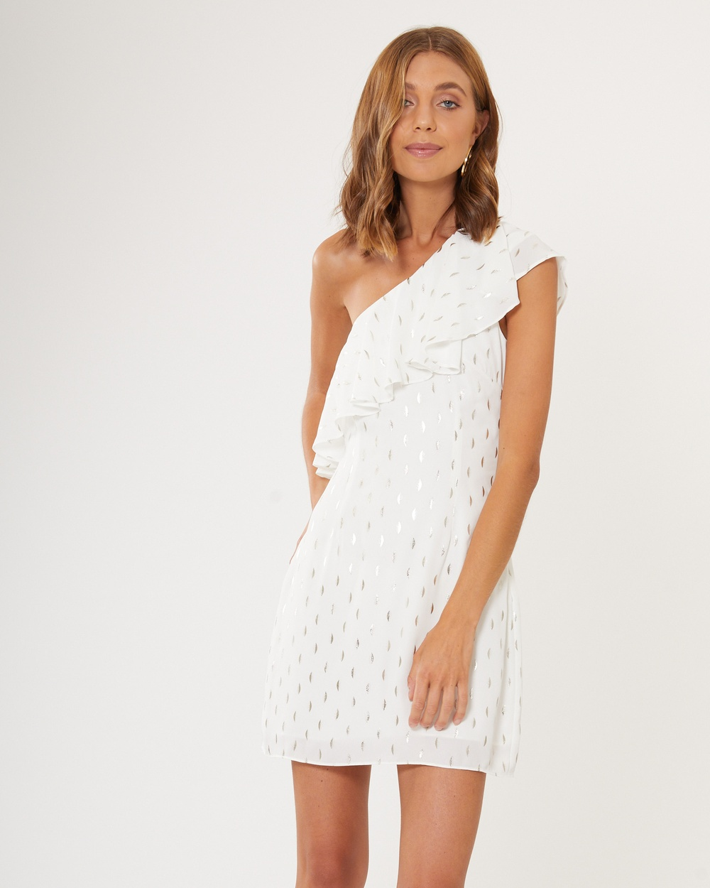 Calli Lola Frill Dress Printed Dresses White Lola Frill Dress