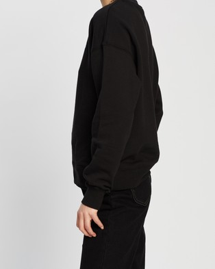 Lee Relaxed Crew - Sweats (Black Sky)