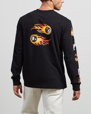 Afends 8 Ball Retro Long Sleeve Tee - T-Shirts & Singlets (Black)