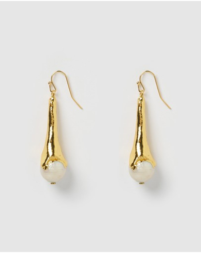 Miz Casa And Co Clover Earrings Gold Pearl